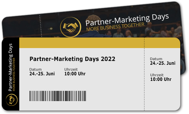 Partner marketing Days kostenfreies Ticket
